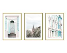 London Wall Art Prints Gallery Wall Art Set of 3 Notting Hill Photography Room Decor Wall Art Sets, Pink Wall Art, Wall Art Prints, Teen Girl Bedrooms, Teen Bedroom, Bedroom Ideas, Bedroom Decor, Travel Wall Art, Pastel Home Decor