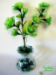 Items similar to Lovely artificial silk rose green with white color. Handcraft nylon fabric flower and leaves for home decor. Floral arrangement on Etsy Nylon Flowers, Leaf Flowers, Fabric Flowers, Silk Roses, Green Rose, Very Lovely, Green Colors, Floral Arrangements, Bouquet