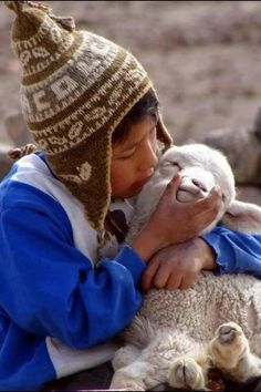 """Boy in the Andes Mountains. Re-pinned by Elizabeth VanBuskirk. For more about Andean children and their relationship with animals see the book just out """"Beyond the Stones of Machu Picchu: Folk Tales and Stories of Inca Life"""" and the site incas.org"""