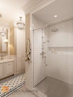 Фото ванная из проекта «Интерьер двухкомнатной квартиры в стиле американской классики, 68 кв.м.»