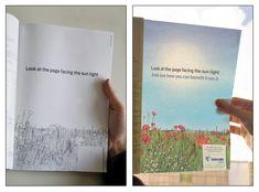 """太陽光にかざすと""""花が咲きほこる""""広告     AdGang"""