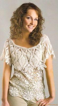 crochet top blouse pattern diagrams pdf