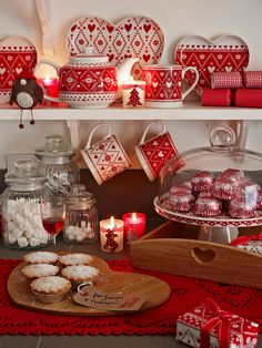 red and white  holiday...♥
