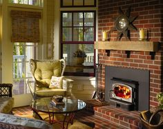 wood-burning fireplace insert with oven!! For the remodel! | Home ...