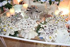 candy table with shells