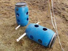 No nets 55 gallon barrel horse hay feeder horse crazy for Boden heuraufe pferd