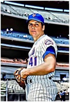 80d1c672b Baseball Painting, Baseball Art, Ny Mets, New York Mets, Cubs Team,