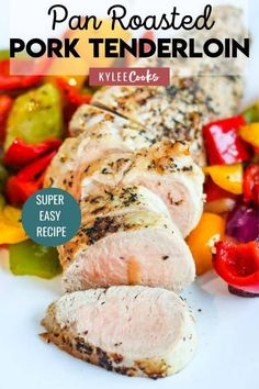 A 30-minute dinner, all cooked in the same pan, this Pan Roasted Pork Tenderloin packs flavor, color AND convenience into your dinnertime routine! Frugal Recipes, Dinner Recipes Easy Quick, Beef Recipes For Dinner, Entree Recipes, Frugal Meals, Side Recipes, Pork Recipes, Great Recipes, Easy Family Meals