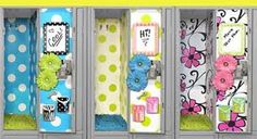These are a creation form the company Locker Lookz, I love the style and want to do this for my first year of high school but I'm not buying from them if i can make this stuff myself (I feel a DIY coming onnn!!! <3 )