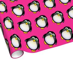 Shop Cute Cartoon Penguin Wrapping Paper created by Personalize it with photos & text or purchase as is! Pink Wrapping Paper, Gift Wrapping, Black Unicorn, I Am Happy, Cute Cartoon, Penguins, Create Your Own, Hot Pink, Have Fun