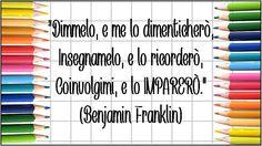 Un Mondo di Fantasie all'Uncinetto di Lisa : Buon anno scolastico a tutti! Benjamin Franklin, Quotes Thoughts, Life Quotes, Freedom Life, Presents For Teachers, School Humor, Love Your Life, Quotes For Kids, Teacher Gifts