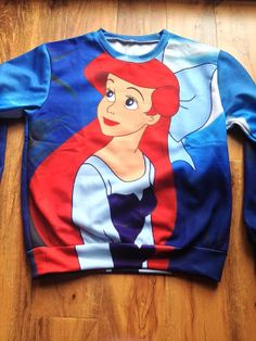 Hey, I found this really awesome Etsy listing at https://www.etsy.com/listing/173757772/ariel-the-little-mermaid-sweater-crew