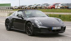 2016 Porsche 911 Targa GTS Spy Shots. The targa is back, but boy is it ever a complicated roof.