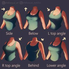 Drawing Tips Breast/chest lighting guide, reference, girl, Woman, shading guide - Digital Painting Tutorials, Digital Art Tutorial, Art Tutorials, Drawing Tutorials, Drawing Poses, Drawing Tips, Drawing Ideas, Sketch Drawing, Shading Drawing