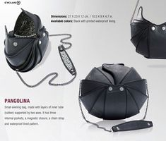 Pangolina: an animal-inspired bag (based on an anteater) by Cyclus