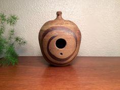 Vintage birdhouse studio pottery by EarthshipVintage on Etsy