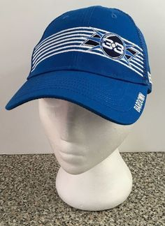 Bardown Hockey Apparel Adjustable Cap Hat Snapback Mesh Blue BD 33 Logo #BardownHockey #Snapback