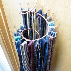 Tie Rack Long Hook Spiral Copper Wall Hanger By Coppergardenstudio 89 00