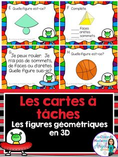 Les solides!  This set of French Task Cards will have your students practicing identifying 3D solids.