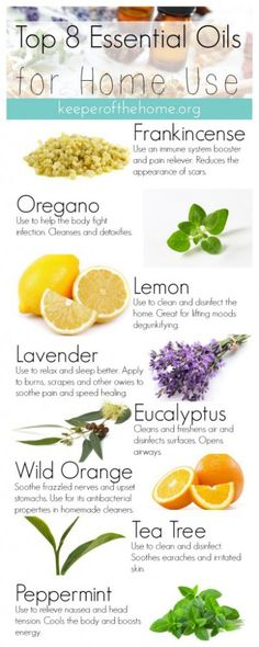 Top 8 Essential Oils for Home Use {KeeperoftheHome.org}