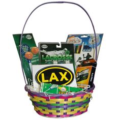 Lacrosse Easter Basket - Boys Lacrosse -- I have three boys who are going to love this next year. BRILLIANT!