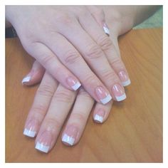Classic french Acrylic nails you can never go wrong with this. Back to my 'ol stand by and I have to say, I missed them! White Tip Acrylic Nails, Pink White Nails, Acrylic Nail Designs, Solar Nail Designs, French Manicure Nails, French Tip Nails, Uv Gel Nails, 3d Nails, Solar Nails