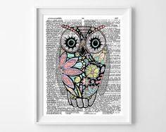 Owl Art Print Nursery Decor by GeorgiePearlDesigns on Etsy, $10.00