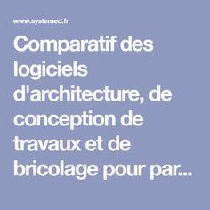 Comparatif des logiciels d'architecture, de conception de travaux et de bricolage pour particuliers par Système D.