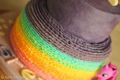 My mini pony rainbow cake
