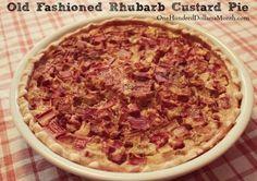old fashioned rhubarb custard pie