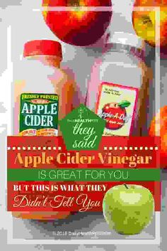 They Said Apple Cider Vinegar Is Great For You, BUT This Is What They Didn't Tell You via @dailyhealthpost | http://dailyhealthpost.com/danger-of-apple-cider-vinegar-and-health-benefits/