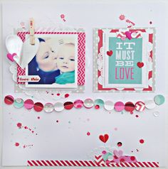 #papercraft #scrapbook #layout  Stephanie Buice for MAMBI