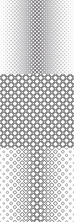 15 monochrome vector square pattern backgrounds $4.00