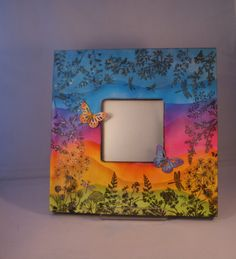 Rainbow butterfly mirror butterfly mirror dragonfly nature
