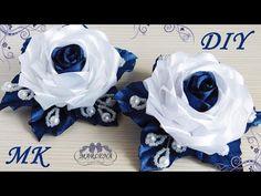 Роза канзаши . Нарядные школьные резиночки. МК/DIY  - YouTube