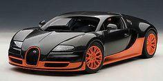 1:18 Autoart BUGATTI VEYRON eb16.4 Super Sport Edition Carbon Black/Orange