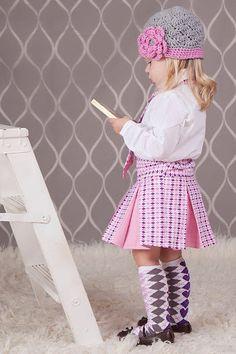 Love this whole look! Cheerleader Pleated Skirt, SEWING TUTORIAL, Girls Skirt,   Etsy.