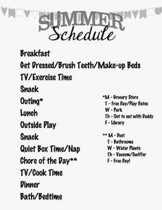 Saving Summer (A Schedule)   Full Plate Living