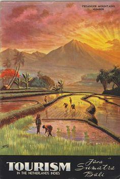 Vintage Travel Posters, Vintage Postcards, Vintage Ads, Indonesian Art, Dutch Colonial, East Indies, Vintage Pictures, Traditional Art, Old World