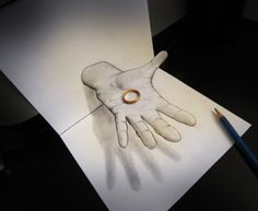 Anamorphic Illusion Drawings by Italian artist Alessandro Diddi 3d Pencil Art, 3d Pencil Sketches, 3d Sketch, 3d Illusion Drawing, Illusion Kunst, Illusion Art, 3d Drawings, Amazing Drawings, Amazing Art