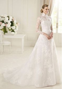 This dress is so sweet and romantic although the sleeves do make it more conservative than I would like. http://www.whiteazalea.com/blog/news-events/new-arrivals-wedding-dresses-for-different-bridal-styles/#