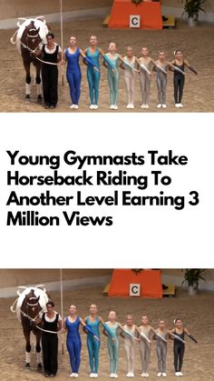 Young gymnasts take horseback riding to another level earning 3 million views Gymnastics Events, Artistic Gymnastics, Young Gymnast, Laughing Therapy, Pregnancy Problems, Kids Outfits Girls, Kid Outfits, Parenting Teens, Weird World