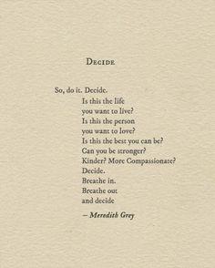 """""""Decide"""" via Modern Hepburn"""