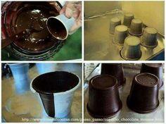 Vasos de chocolate
