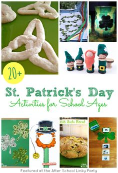 20+ St. Patricks' Day Activities for School Ages featured at The Educators' Spin On It.  Shamrocks, Leprechauns, recipes and more!