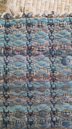 Hand Woven Country Blues Handmade Loom Woven Rag Rug by KrautsRagRugs on Etsy