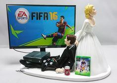 Fifa 16 Wedding Cake Topper Gamer Xbox One/PS4/PC by TopShelfToppers on Etsy