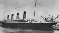 Olympic at Ocean Dock in a pre-1912 photo.