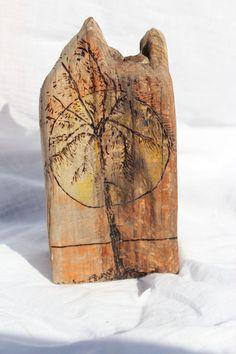 Driftwood Sign Wood Burned Palm Tree Sunset by LaurasCozyCottage, $12.99
