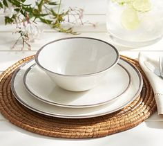 Swirl Melamine Dinner Plate, Set of 4 #potterybarn
